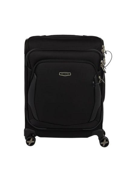 Czarna walizka z nylonu Samsonite