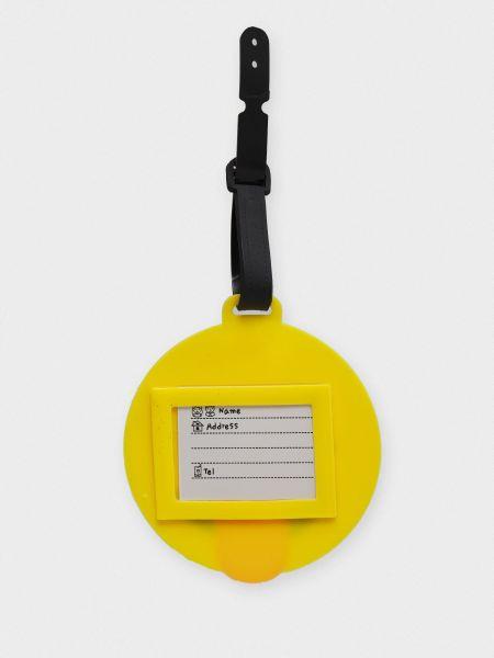 С ремешком желтый чемодан Braska