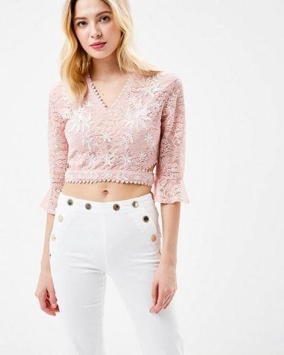 Розовая кружевная блузка Glamorous