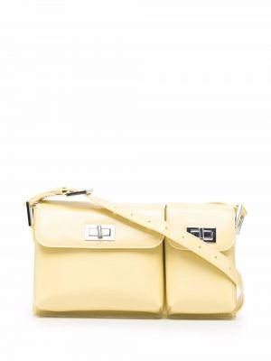 Кожаная сумка - желтая By Far