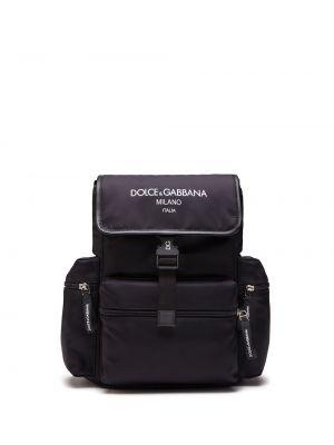 С ремешком черный кожаный рюкзак Dolce & Gabbana Kids