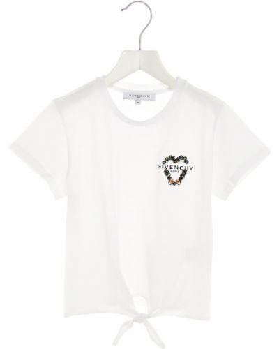 Podkoszulka bawełniana - biała Givenchy