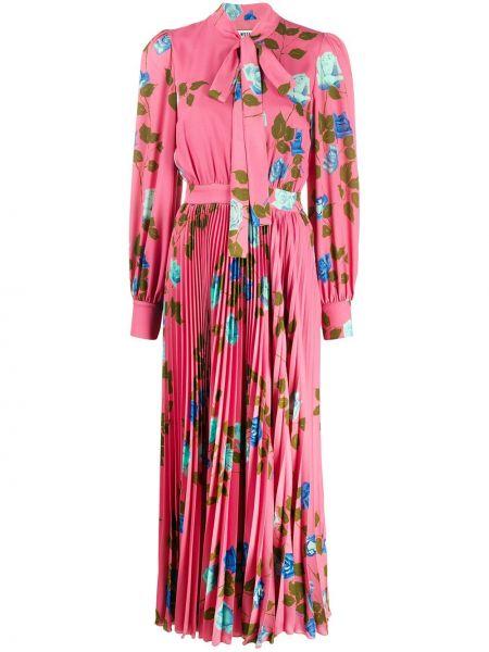 Платье макси розовое плиссированное Msgm