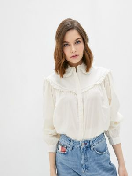 Блузка с длинным рукавом белая весенний Soaked In Luxury