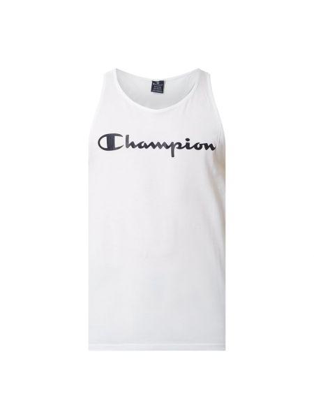 Bawełna bawełna biały top z dekoltem Champion