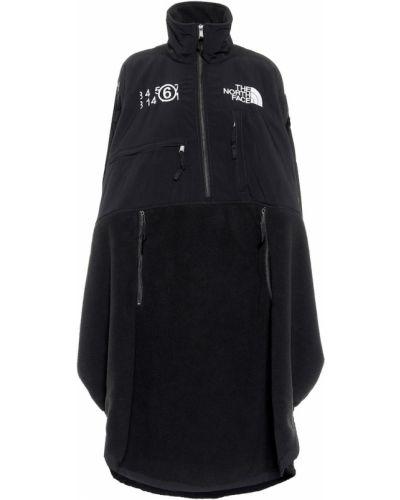Czarny zimowa kurtka okrągły Mm6 Maison Margiela