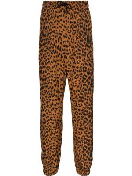 Коричневые прямые прямые брюки с карманами новогодние Wacko Maria