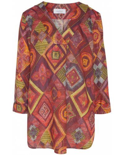 Льняная блузка - красная Van Laack