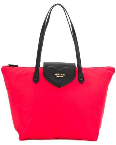 Красная сумка-тоут Twin-set