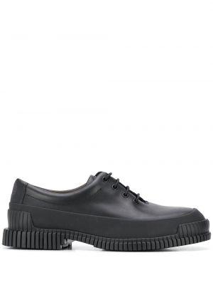 Черные кожаные туфли на шнуровке Camper