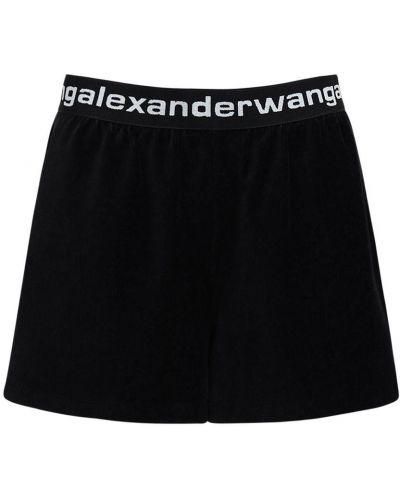 Шорты на резинке - черные Alexander Wang