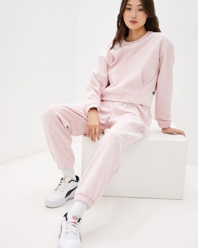 Розовый спортивный костюм осенний Puma