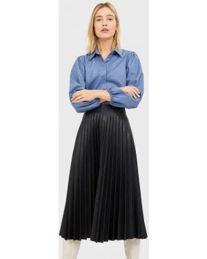 Плиссированная плиссированная юбка из искусственной кожи Stradivarius