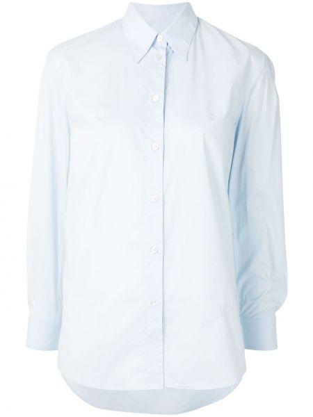 Niebieski koszula z kołnierzem z mankietami zapinane na guziki Mm6 Maison Margiela