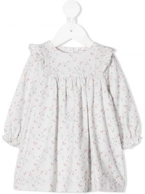 Расклешенное платье с рукавами с оборками на пуговицах с вырезом Knot