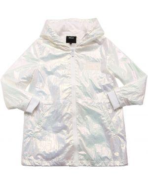 Płaszcz z mankietami prążkowany Dkny