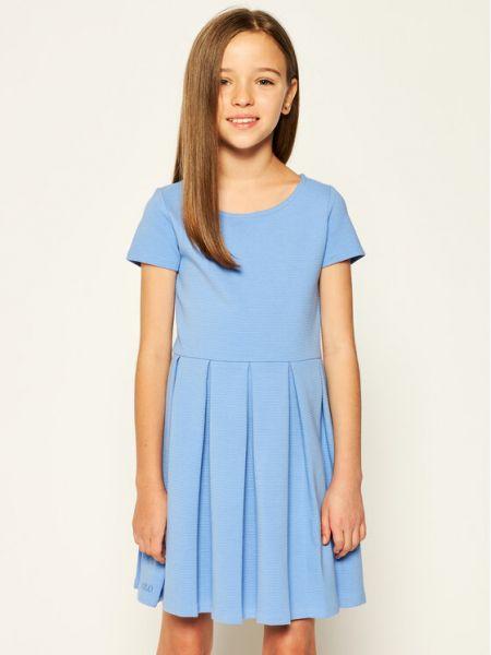Niebieska sukienka na co dzień Polo Ralph Lauren