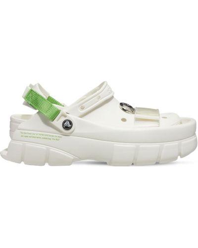Белые сандалии классические Crocs