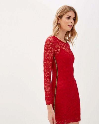 Джинсовое платье прямое красный Guess Jeans