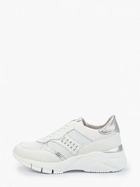 Белые кроссовки из натуральной кожи Bata