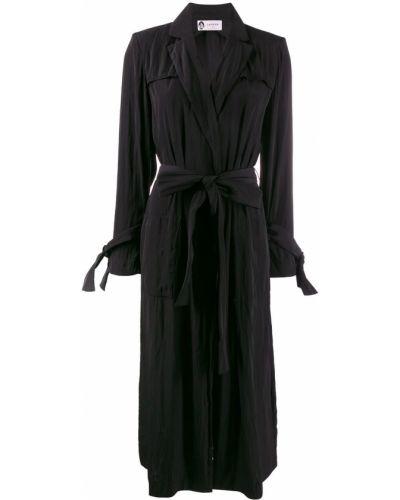 Черное пальто с капюшоном Lanvin