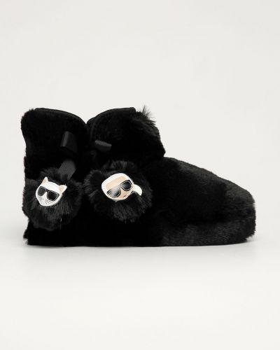 Czarne kapcie Karl Lagerfeld