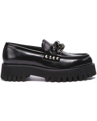 Кожаные туфли закрытые круглые Casadei