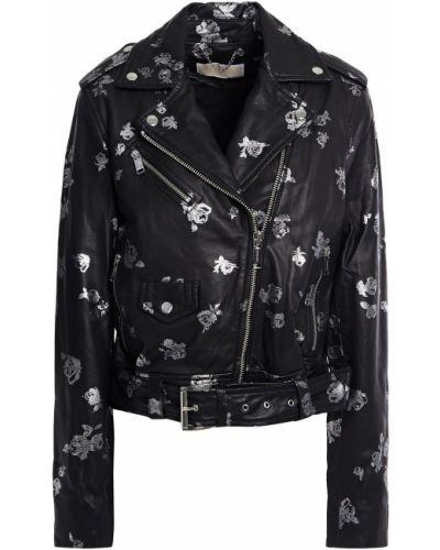 Черная кожаная куртка с подкладкой Michael Michael Kors