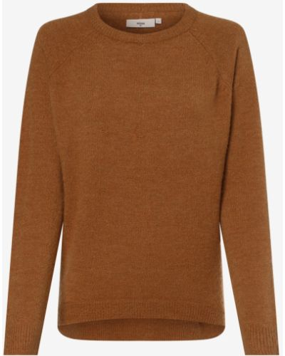 Sweter moherowy - brązowy Minimum