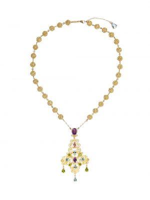 Ожерелье золотое с подвесками с аметистом Dolce & Gabbana