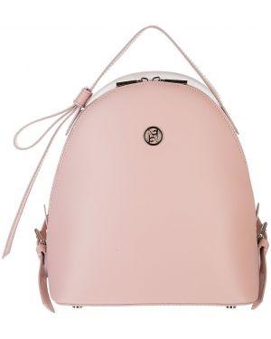 Кожаный рюкзак розовый маленький Afina