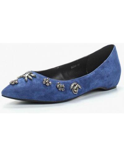 Синие балетки Vitacci