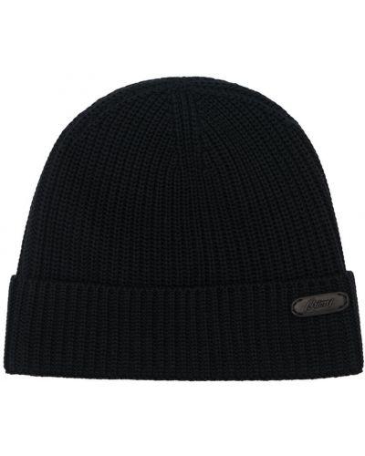 Черная кожаная шапка Brioni