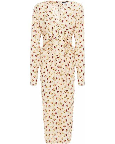 Sukienka midi z wiskozy zapinane na guziki Rotate Birger Christensen