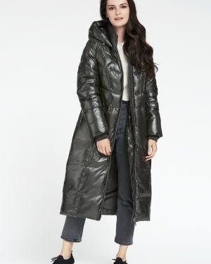 Пальто с капюшоном длинное на молнии D`imma Fashion Studio