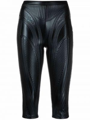 Черные шорты с завышенной талией Mugler