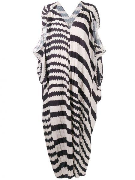 Платье с V-образным вырезом длинное Henrik Vibskov