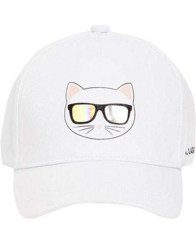 Baseball bawełna bawełna kapelusz Karl Lagerfeld
