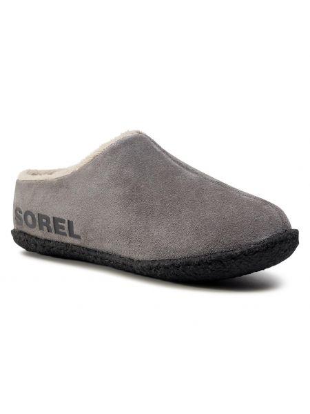 Szare sandały zamszowe Sorel