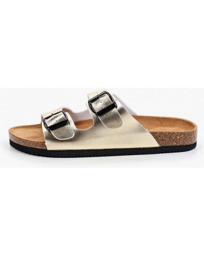 Сабо летние золотые Ideal Shoes®