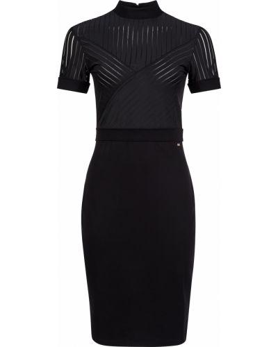 Платье из вискозы - черное Armani Exchange