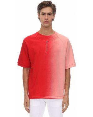 T-shirt bawełniany z raglanowymi rękawami Gr Uniforma X Diesel Red Tag