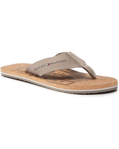 Sandały japonki - beżowe Tommy Hilfiger