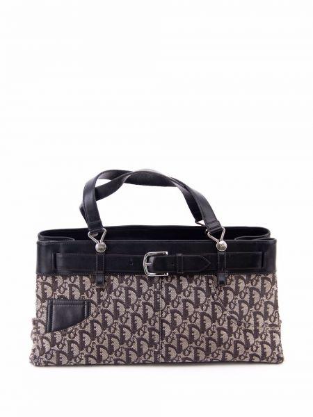 Czarna torebka z klamrą Christian Dior