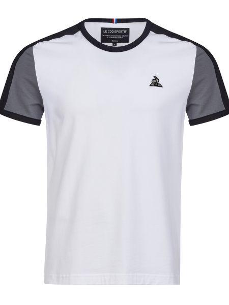 Хлопковая футболка - белая Le Coq Sportif
