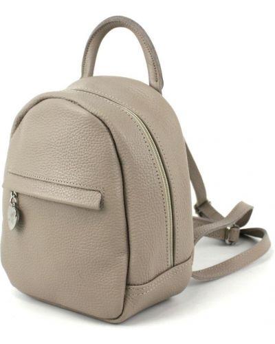 Кожаный рюкзак - бежевый Borsacomoda