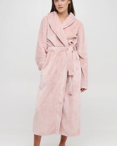 Домашний халат длинный - розовый Naviale