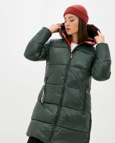 Теплая зеленая утепленная куртка Luhta