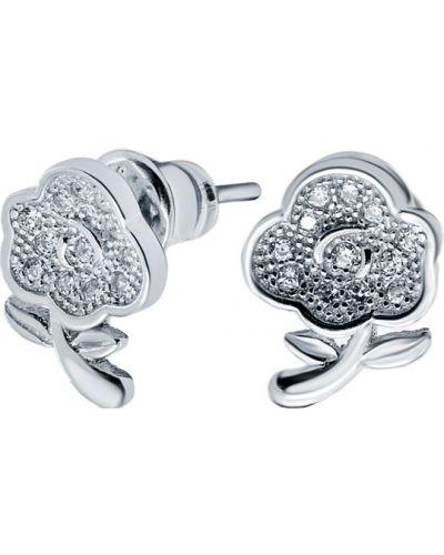 Серьги-гвоздики серебряные Silver Wings