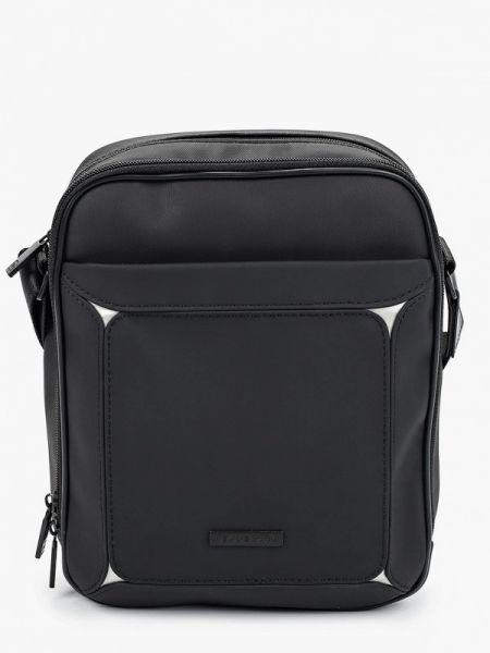 Мерцающая черная нейлоновая кожаная сумка Henderson